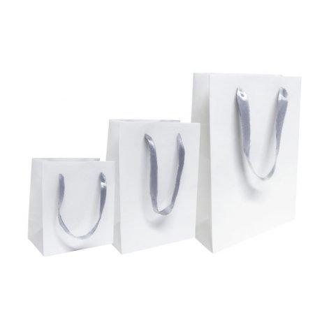 Bolsa papel blanca grande